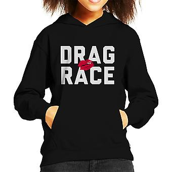 Drag Race Text Kid's Hooded Sweatshirt