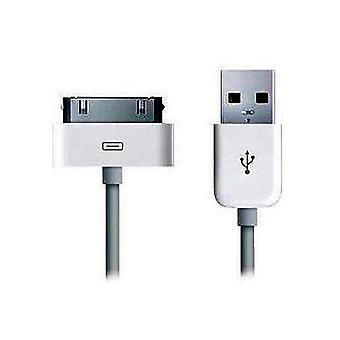 Cable de datos USB + sincronización para Apple iPhone 4 3 3 g iPad blanco