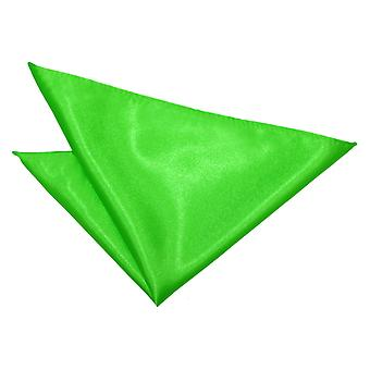 Apple Green Plain Satin Pocket Square