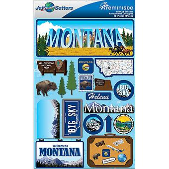 Jet Setters Dimensional Stickers-Montana