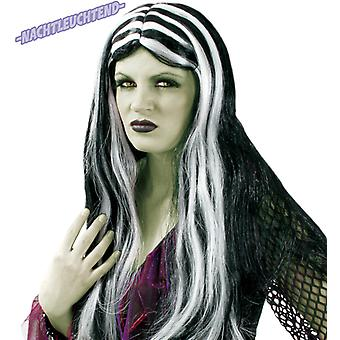 Wig witch black white night bright Halloween