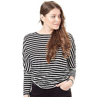 Oneill Black Aop-White Jacks Base Striped Womens Long Sleeved T-Shirt