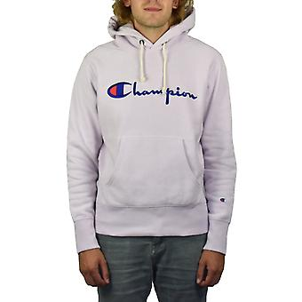 Champion Reverse Weave Script Pullover Hoody (Lilac)