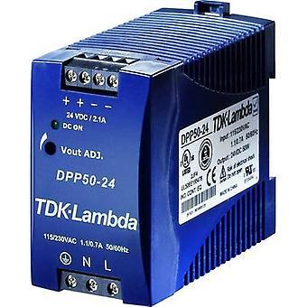 Rail mounted PSU (DIN) TDK-Lambda DPP-50-24 24 Vdc 2.1 A 50 W 1 x
