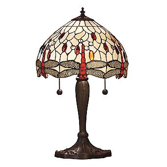 Intérieurs 1900 libellule Beige moyen 2 lumière Tiffany T