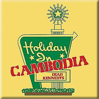 Dead Kennedys Holiday In Cambodia Steel Fridge Magnet 75Mm Square