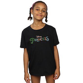 Disney Princess Girls Colour Logo T-Shirt