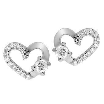 Orphelia argent 925 boucles d'oreilles coeur Zirconium - ZO-7080