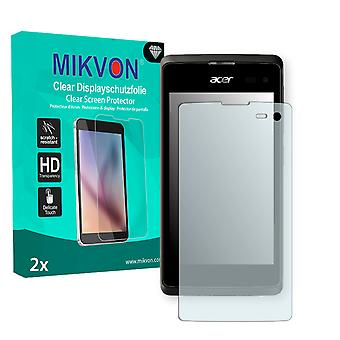 Acer Liquid Z220 Screen Protector - Mikvon Clear (Retail Package with accessories)