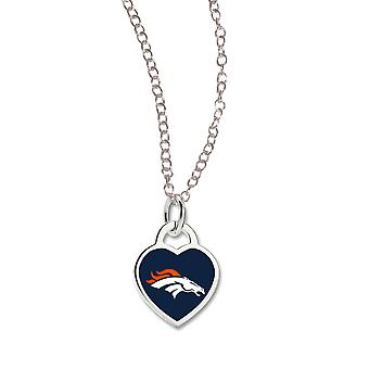 Wincraft ladies Heart Necklace - NFL Denver Broncos