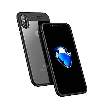 Stuff Certified® iPhone プラス 8 - オート フォーカス鎧ケース カバー Ca シリコーン TPU ケース黒