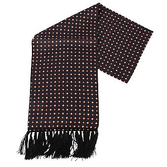 Knightsbridge halsdukar Diamond Aviator Silk Scarf - svart