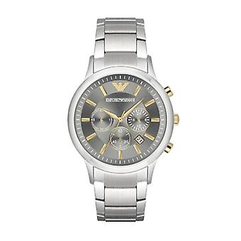 Emporio Armani Mens' Chronograph Watch - AR11047 - Grey/Steel