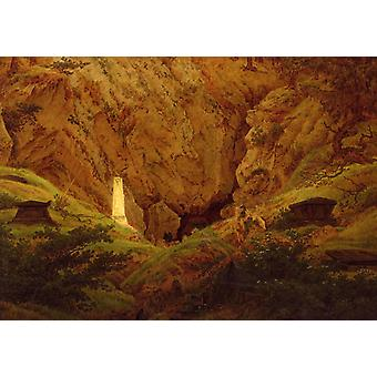 Graves of Ancient Heroes, Caspar David Friedrich, 49.5 x 70.5 cm
