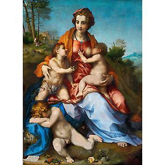 La Charite, Andrea del Sarto, 40x60cm with tray