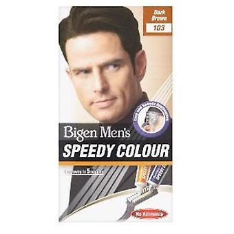 Bigen Men's Speedy Colour Dark Brown #103