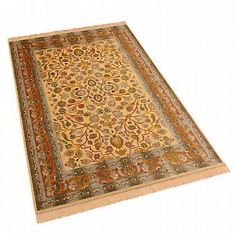 Gold Afghan Ziegler Artificial Silk Rugs 5663/41 140 x 200cm