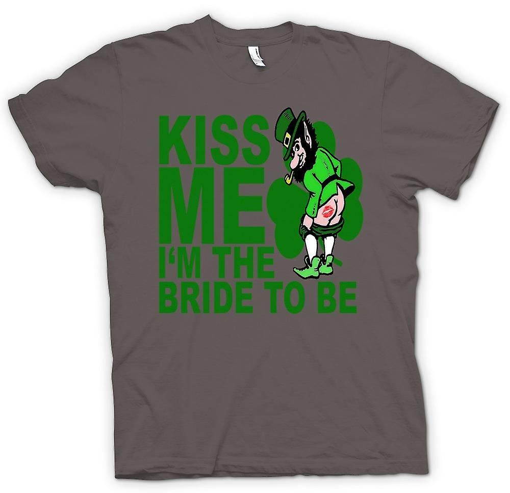 Womens T-shirt - St Patricks Day Ierse Kiss Me - Funny