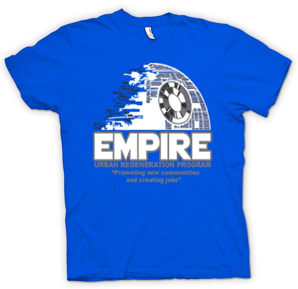 Herr T-shirt - Empire stadsförnyelse Death Star - Star Wars