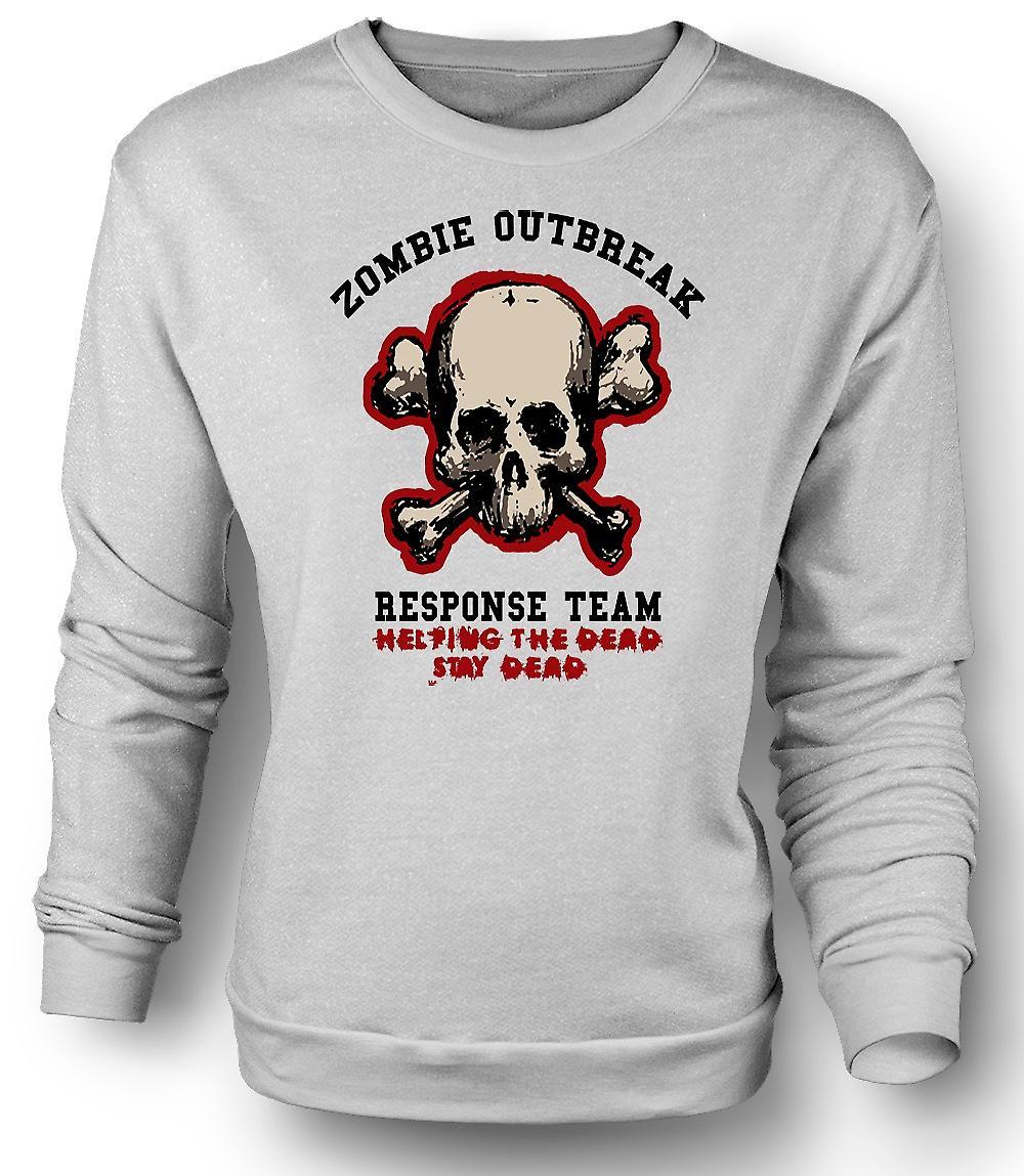 Mens Sweatshirt Zombie Outbreak Response - Funny