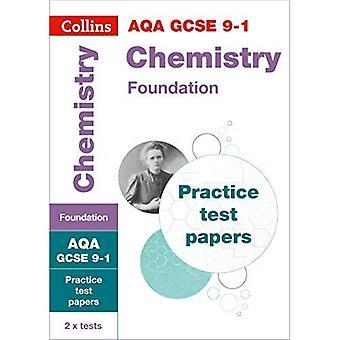 AQA GCSE 9-1 kemi Foundation praktiken Test papper (Collins GCSE 9-1 Revision) (Collins GCSE 9-1 Revision)