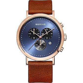 BERING Analog quartz men's watch with leather 10540-467
