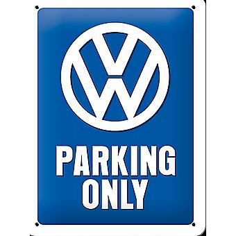 VW Parking Only small metal sign    (na 2015)
