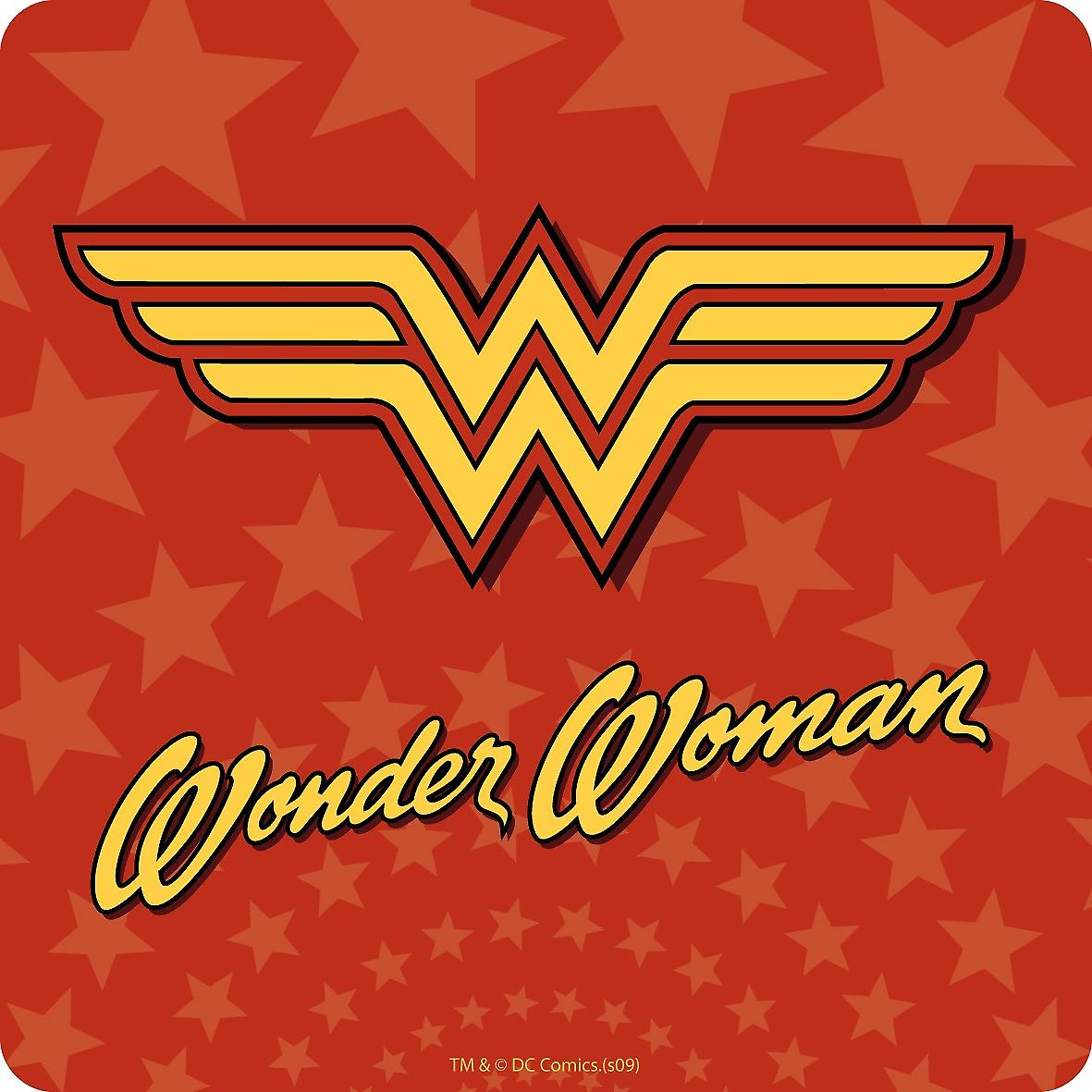 Wonder Woman (logo) drinks mat / coaster   (hb)