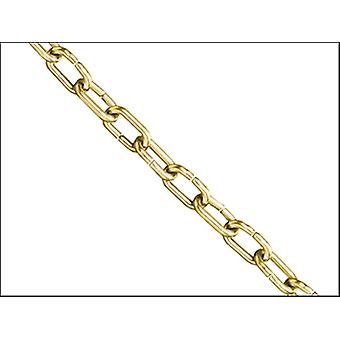 CLOCK CHAIN POLISHED BRASS 1.6MM X 10M