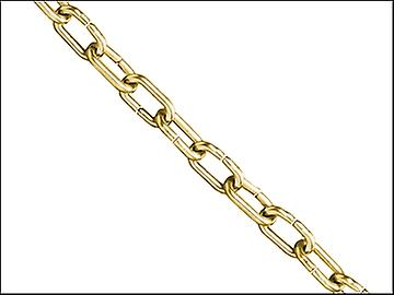Faithfull Clock Chain Polished Brass 1.6mm x 10m