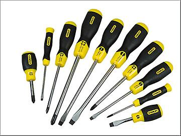 Stanley Tools Cushion Grip Screwdriver Set Flared / Phillips Set of 10