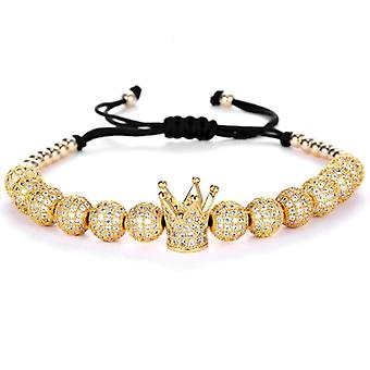 Bracelets-Crown and gold Beads