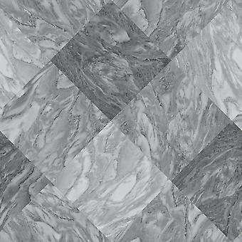Rasch marbre tuile effet papier peint ardoise gris diamant moderne texturé vinyle