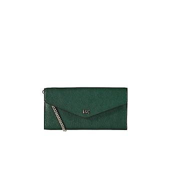 MICHAEL KORS CRYLL LARGE CHAIN RACING GREEN WALLET