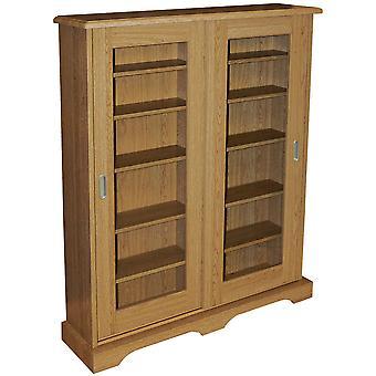 Hampstead - 432 oder 216 Cd Dvd Blu-ray Media Storage Cabinet - Eiche