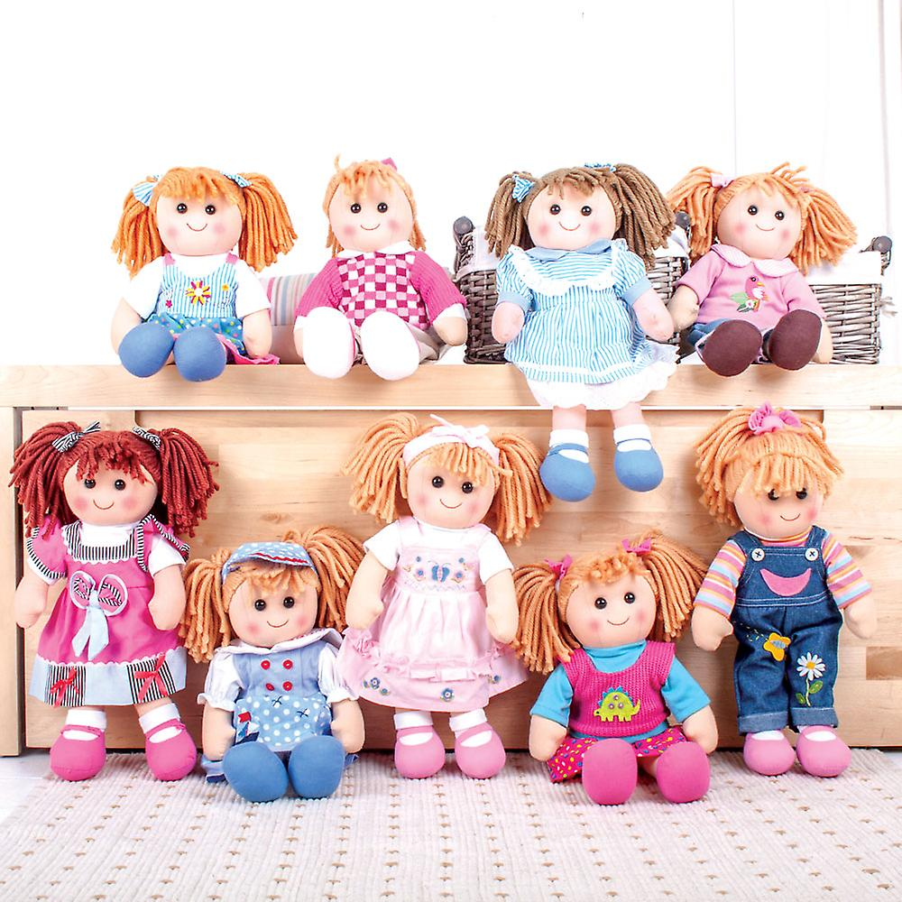 Bigjigs TOYs Wooden Wardrobe Fashion Stand for Doll Clothing Dress Up