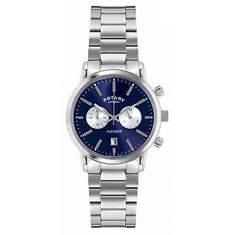 Rotary Mens Avenger Stainless Steel Blue Dial GB02730/05 Watch