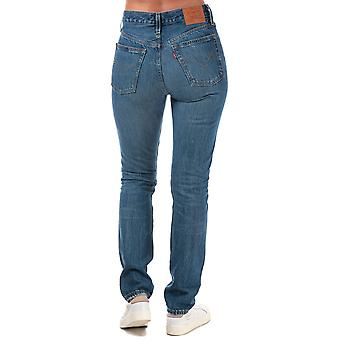 Women's Levi's 501 skinny jeans in chill pil