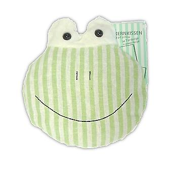 Childrens Stripey Heatable Cherry Pit Pillow: Frieda Frog