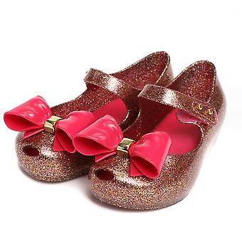 Melissa Shoes Mini Ultragirl Bow Glitter Shoe,Pink