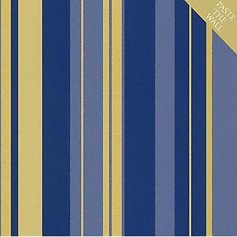 Rasch en suite oro azul rayas fondo de pantalla rayado texturizado pegar la pared