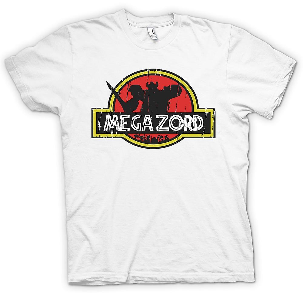 Mens t-shirt - Megazord in Jurassic Park - Cool Crossover