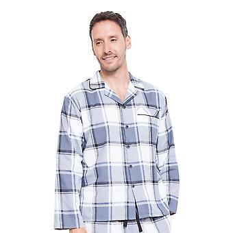 Cyberjammies 6320 mäns Aspen grå rutiga pyjamas topp
