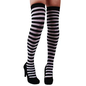 Strømper og ben tilbehør knæ-længde strømpebukser stribet sort hvid