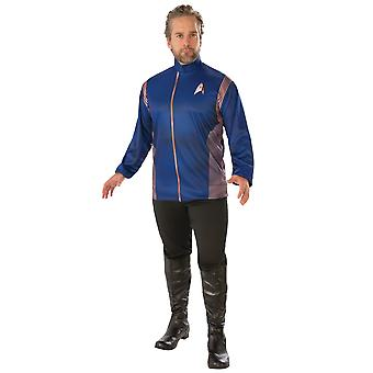 Spock Star Trek Discovery Science Uniform Blue Top Long Shirt Mens Costume