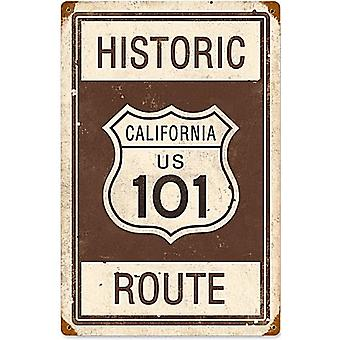 Historic Route 101 California rusted steel sign 460mm x 300mm (pst)