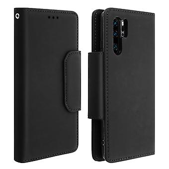 Magnetic Detachable Wallet Folio Case for Huawei P30 Pro - Black