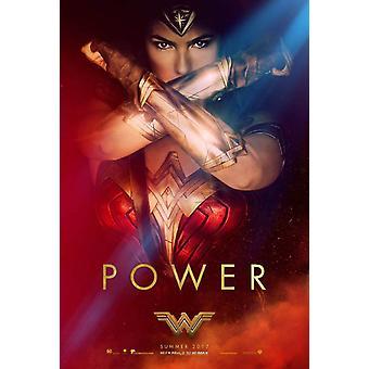 Wonder Woman Original Movie Poster – Power Gauntlets Style C