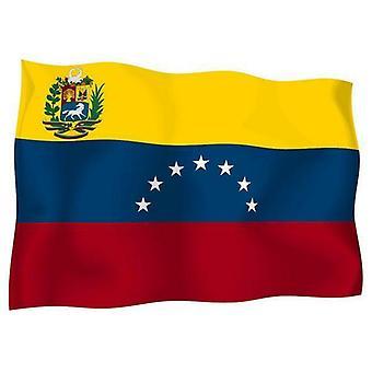 Sticker Autocollant Drapeau Exterieur Vinyle Voiture Moto Venezuela Venezuelien