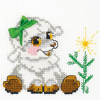Little Lamb Counted Cross Stitch Kit-6
